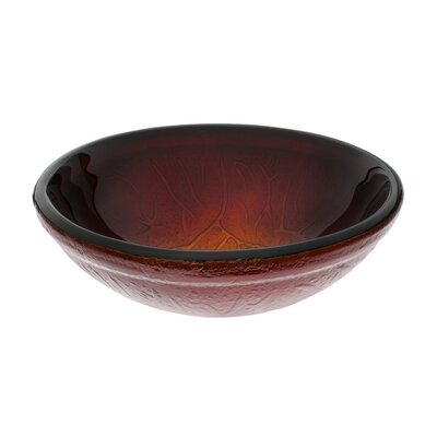 Ombre Glass Circular Vessel Bathroom Sink