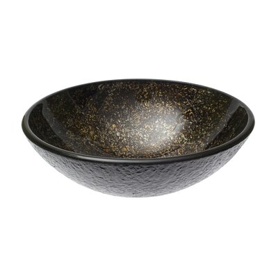 Speckled Ore Glass Circular Vessel Bathroom Sink