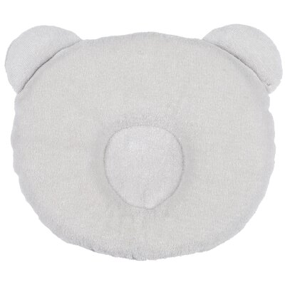 Panda Terry Cotton Floor Pillow Color: Gray