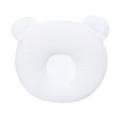 Panda Terry Cotton Floor Pillow Color: White