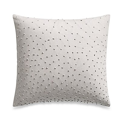 Sequins Textured Knot Cotton Throw Pillow