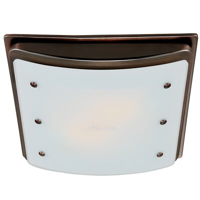 Ellipse 100 CFM Bathroom Fan with Light Finish: Imperial Bronze