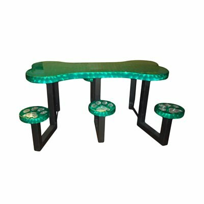 Picnic Table Finish: Green Transluscent
