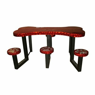 Picnic Table Finish: Red Transluscent