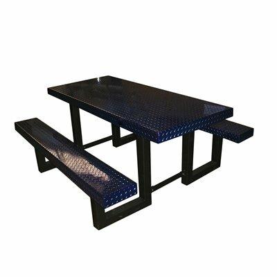 Picnic Table Finish: Blue Translucent
