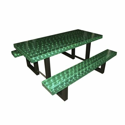 Picnic Table Finish: Green Translucent