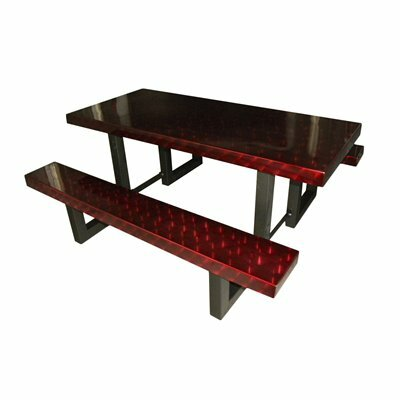Picnic Table Finish: Burgundy Translucent