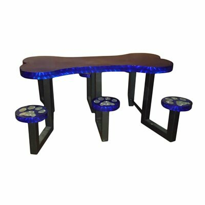 Picnic Table Finish: Blue Transluscent