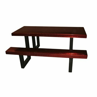 Picnic Table Finish: Red Translucent