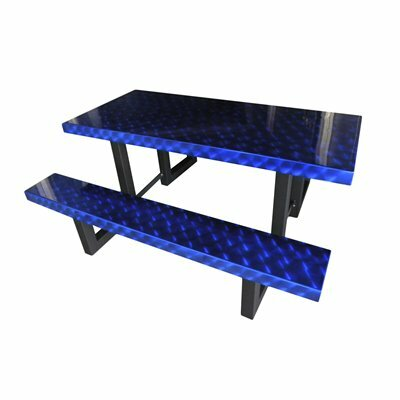 Picnic Table Finish: Blue Translucent