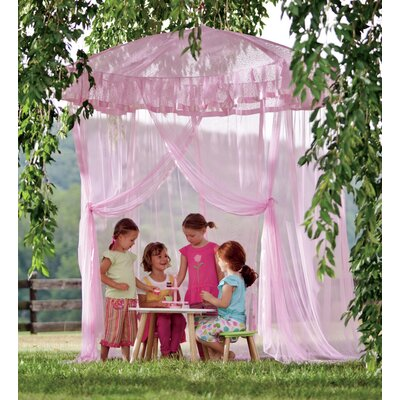 Sparkling Lights Bed Canopy Color: Pink