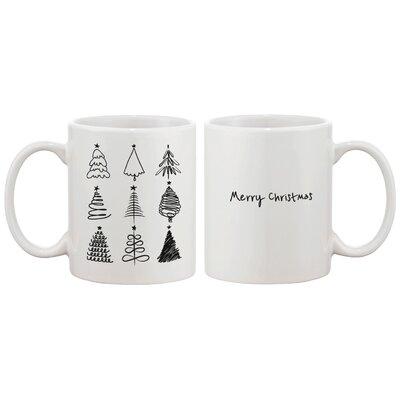 Merry Christmas Tree X-Mas Coffee Cup JMC057