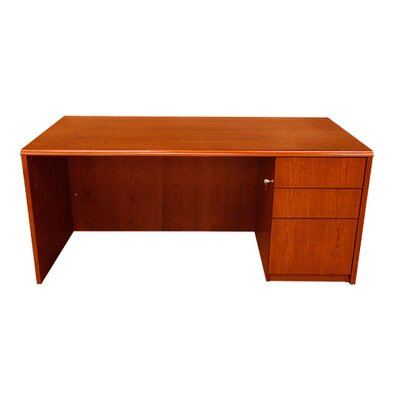 Waterfall Series Pedestal Executive Desk
