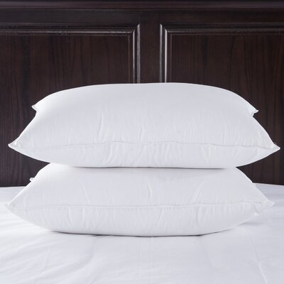 400 Thread Count Egyptian Luxury Goose Down and Feathers Pillow Size: Standard / Queen