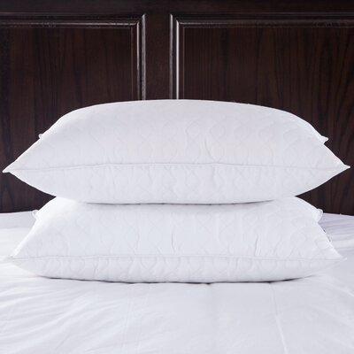 Quilted Goose Down and Feathers Pillow Size: Standard / Queen