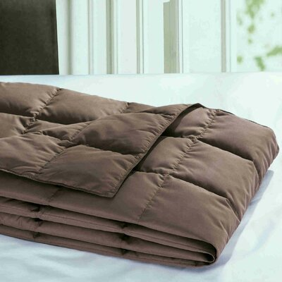 Down Throw Blanket Color: Chocolate