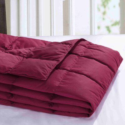 Down Throw Blanket Color: Red