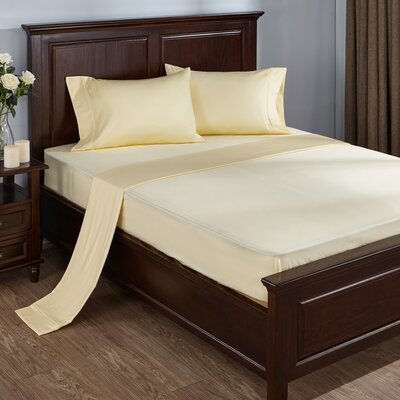 4 Piece 300 Thread Count 100% Cotton Sheet Set Size: Queen, Color: Beige