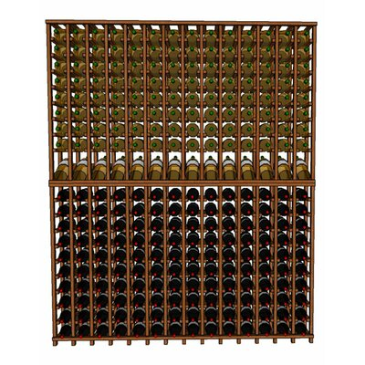 Premium Cellar Series 280 Bottle Floor Wine Rack Finish: Oak