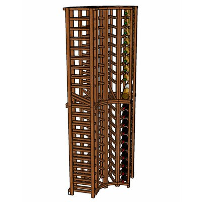 Premium Cellar Series 84 Bottle Floor Wine Rack Finish: Oak