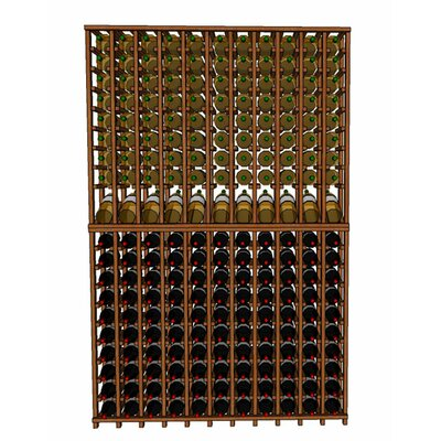Premium Cellar Series 220 Bottle Floor Wine Rack Finish: Mahogany