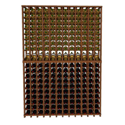 Premium Cellar Series 240 Bottle Floor Wine Rack Finish: Mahogany