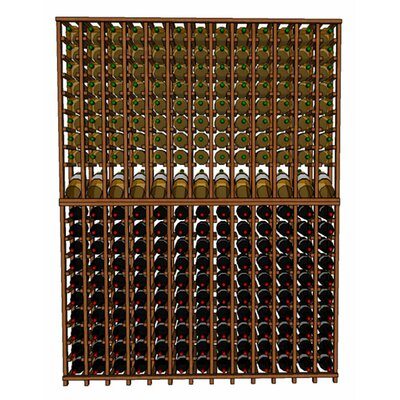 Premium Cellar Series 260 Bottle Floor Wine Rack Finish: Oak