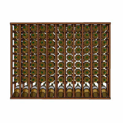 Premium Cellar Series 110 Bottle Floor Wine Rack Finish: Mahogany