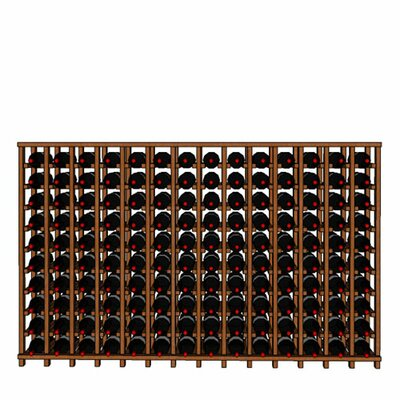Premium Cellar Series 140 Bottle Floor Wine Rack Finish: Mahogany