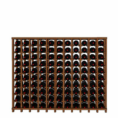 Premium Cellar Series 110 Bottle Floor Wine Rack Finish: Oak
