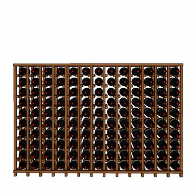Premium Cellar Series 130 Bottle Floor Wine Rack Finish: Mahogany
