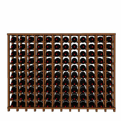 Premium Cellar Series 120 Bottle Floor Wine Rack Finish: Oak