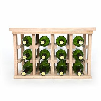 12 Bottle Floor Wine Rack Finish: Oak