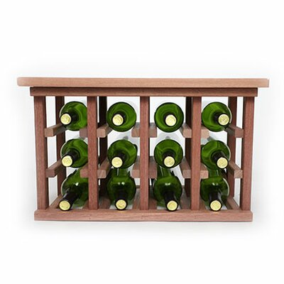 12 Bottle Floor Wine Rack Finish: Mahogany