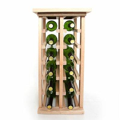 12 Bottle Floor Wine Rack Finish: Oak