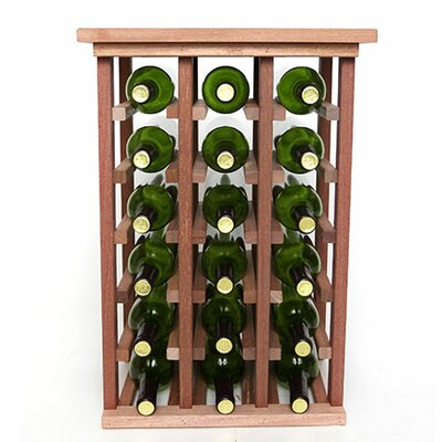 18 Bottle Floor Wine Rack Finish: Mahogany