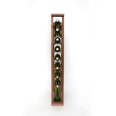 Premium Cellar Series 10 Bottle Floor Wine Rack Finish: Mahogany