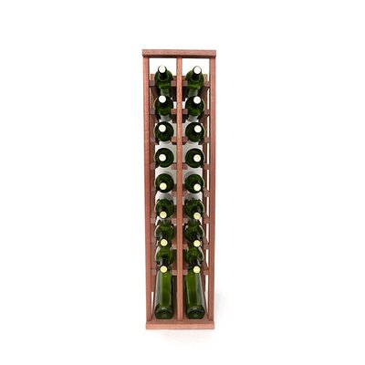 Premium Cellar Series 20 Bottle Floor Wine Rack Finish: Mahogany