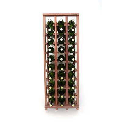 Premium Cellar Series 30 Bottle Floor Wine Rack Finish: Mahogany