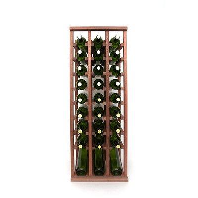Premium Cellar Series 30 Bottle Floor Wine Rack Finish: Mahogany