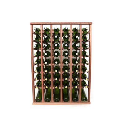 Premium Cellar Series 60 Bottle Floor Wine Rack Finish: Mahogany