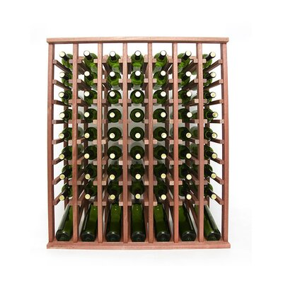 Premium Cellar Series 70 Bottle Floor Wine Rack Finish: Mahogany