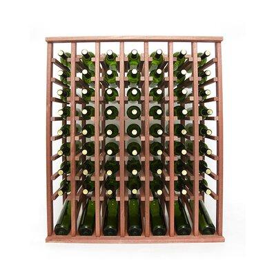 Premium Cellar Series 70 Bottle Floor Wine Rack Finish: Mahogany