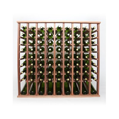 Premium Cellar Series 90 Bottle Floor Wine Rack Finish: Mahogany