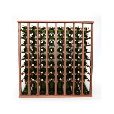 Premium Cellar Series 80 Bottle Floor Wine Rack Finish: Mahogany
