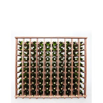 Premium Cellar Series 100 Bottle Floor Wine Rack Finish: Mahogany