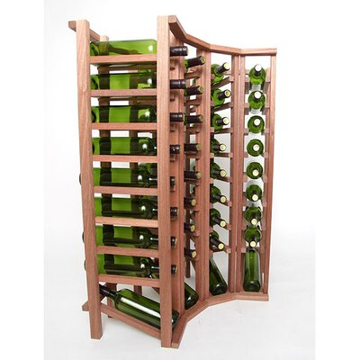Premium Cellar Series 40 Bottle Floor Wine Rack Finish: Mahogany