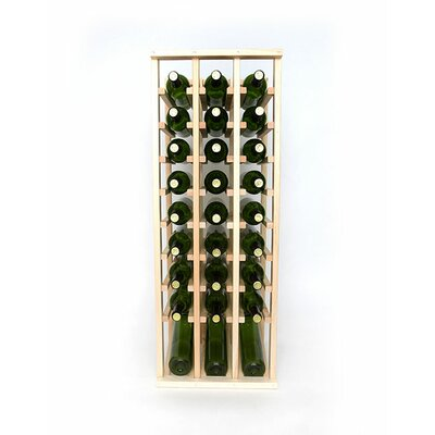 Premium Cellar Series 30 Bottle Floor Wine Rack Finish: Pine