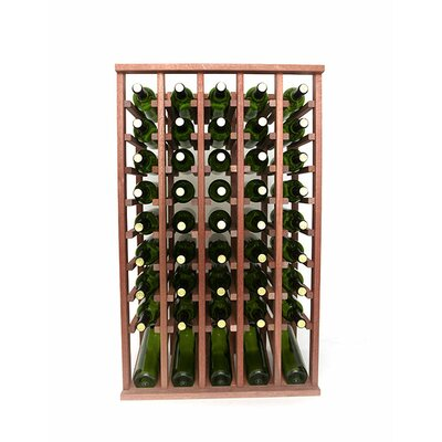 Premium Cellar Series 50 Bottle Floor Wine Rack Finish: Mahogany