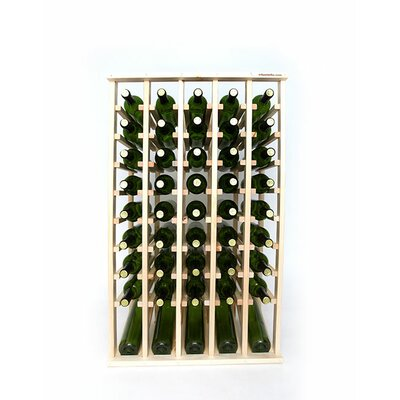 Premium Cellar Series 50 Bottle Floor Wine Rack Finish: Pine